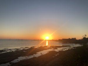 バルーの夕陽