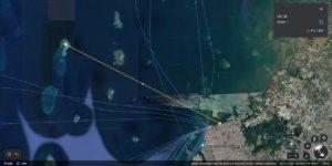 マカッサルからボネタンブ島迄の距離